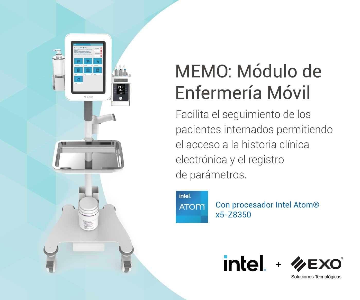 Módulo de enfermería móvil con gestión inteligente de medicación para pacientes internados